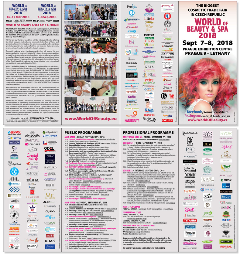 COSMETIC TRADE FAIR WORLD OF BEAUTY & SPA